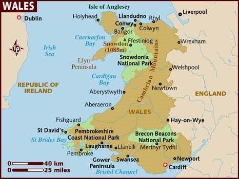 mapa de gales