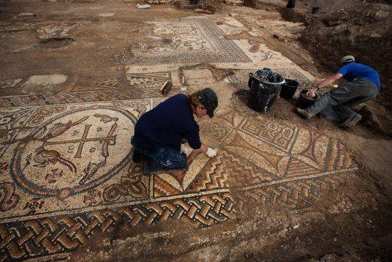 mosaicos bizancio israel