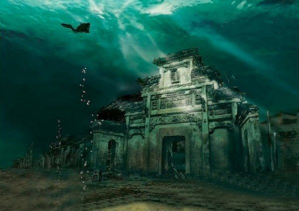 ciudad sumergida china
