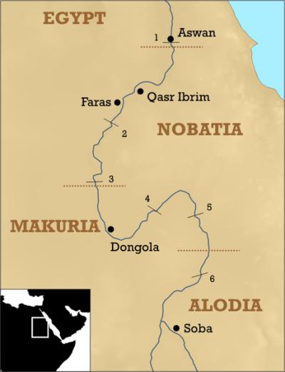 mapa reino makuria