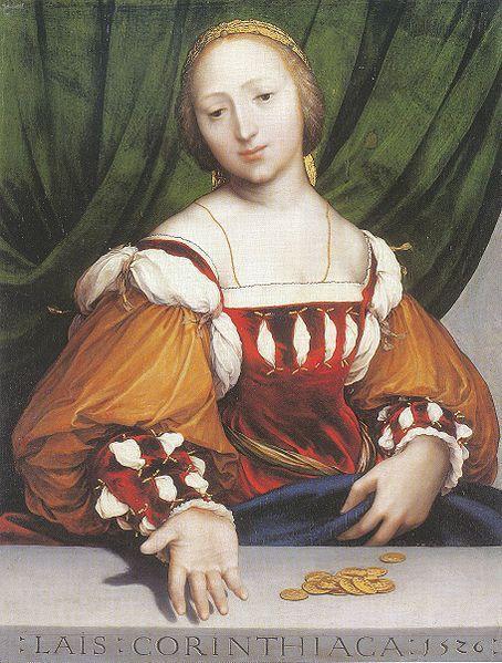 retrato lais de corinto