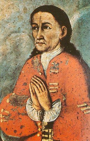 """Mateo Pamacahua. Aunque fue jefe militar del bando realista y luchó contra la rebelión indígena de Tupac Amaru, terminó por simpatizar con los rebeldes y encabezar la """"Rebelión del Cusco"""""""
