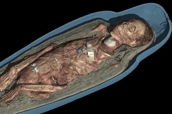 visualizacion 3d de la momia de tamut