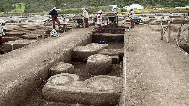 Yacimiento precolombino en Colombia. Crédito: EMP