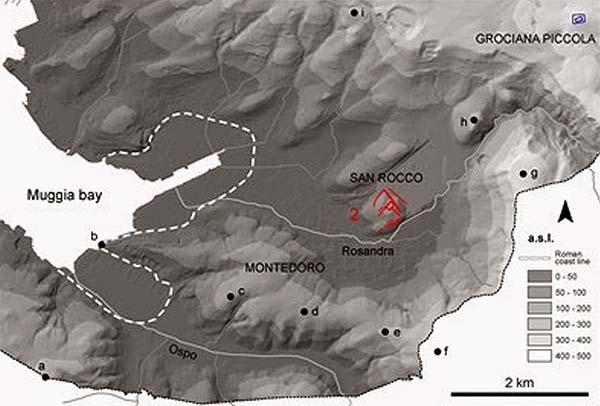 Así serían las fortificaciones de Trieste, según la tecnología LIDAR.