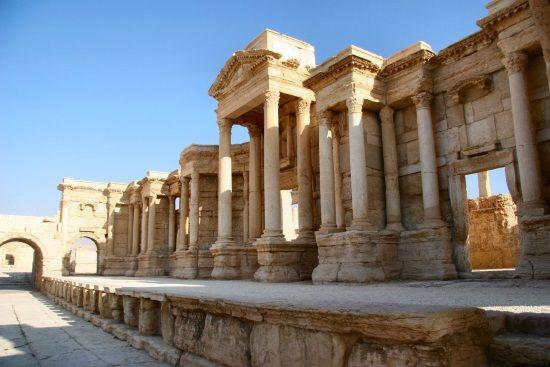 Teatro de Palmira. Crédito: Andreas Praefcke, Wikimedia.