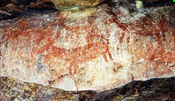 Cuevas con arte prehistórico en India corren serio peligro de destrucción total. Crédito Times of India.