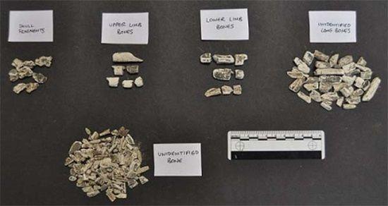 Restos humanos cremados más antiguos de Gran Bretaña.