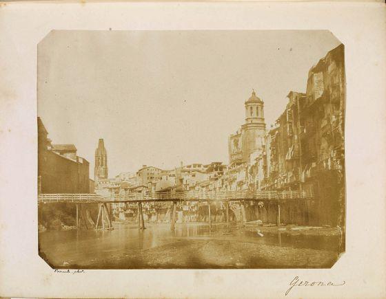 Primera fotografía de Girona, tomada por François Gobinet en 1852. Crédito: Centro de Recerca y Difusió de la Imatge.