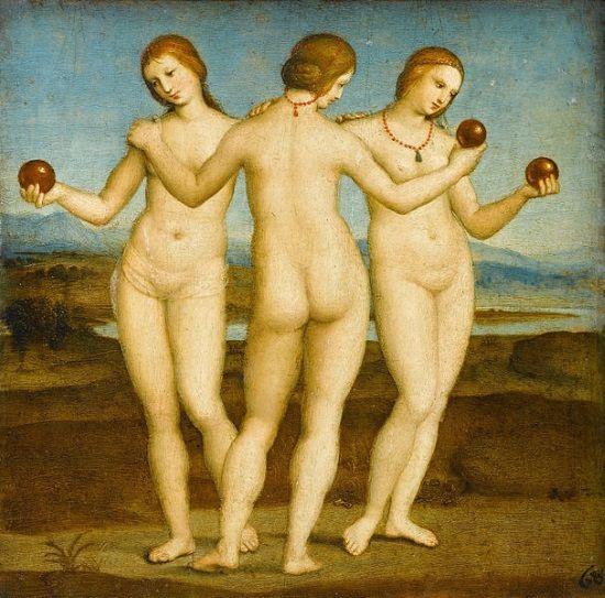 """Las Tres Gracias"", de Rafael Sanzio."
