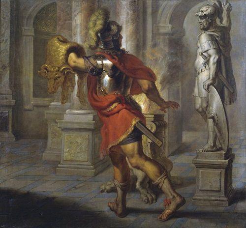 Jasón con el Vellocino de Oro. Obra de Erasmus Quellinus II.