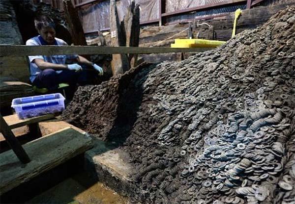 5 carros en gran estado de conservación han sido hallados en un antiguo cementerio chino. Crédito: Xin Lixiang