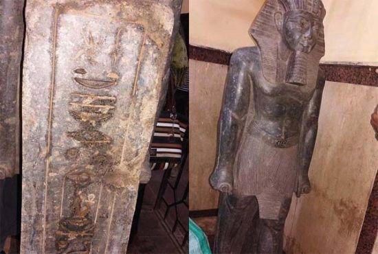 Estatua de Amehotep III hallada en una redada policial en Egipto. Crédito: Wikimedia