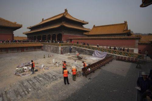 Trabajos de arqueología en la Ciudad Prohibida de Beijing. Crédito: China Daily.