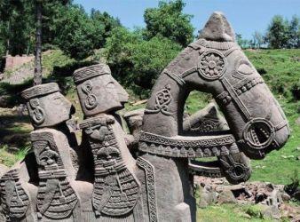 escultura jinete heftalita