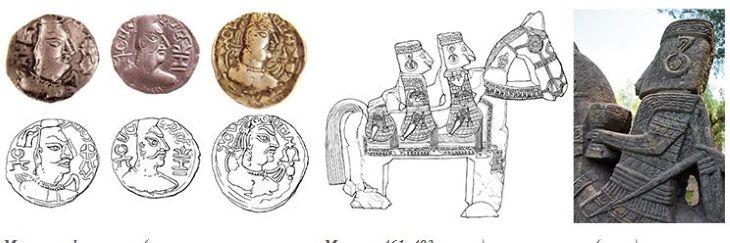 monedas heftalitas rostros