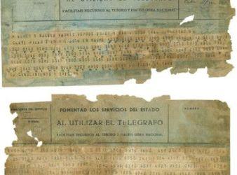 telegrama franquista clave pilar