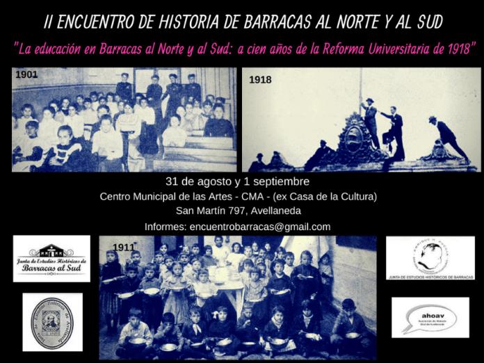 Programa delII Encuentro de Historia de Barracas al Norte y al Sud
