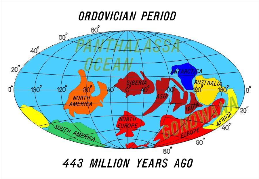 continentes periodo ordovicico