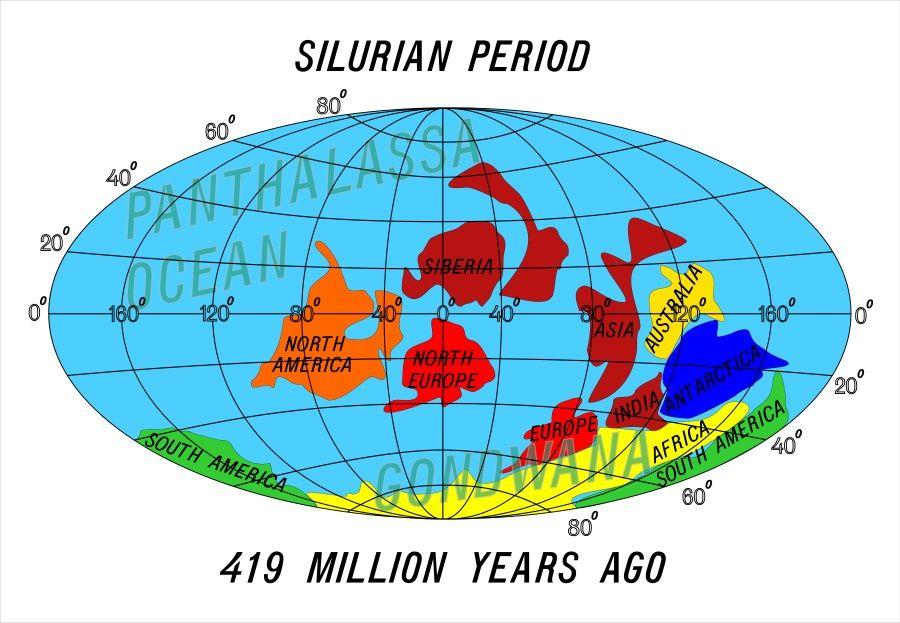 continentes periodo silurico