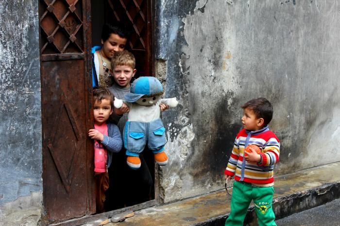 ninos sirios alepo
