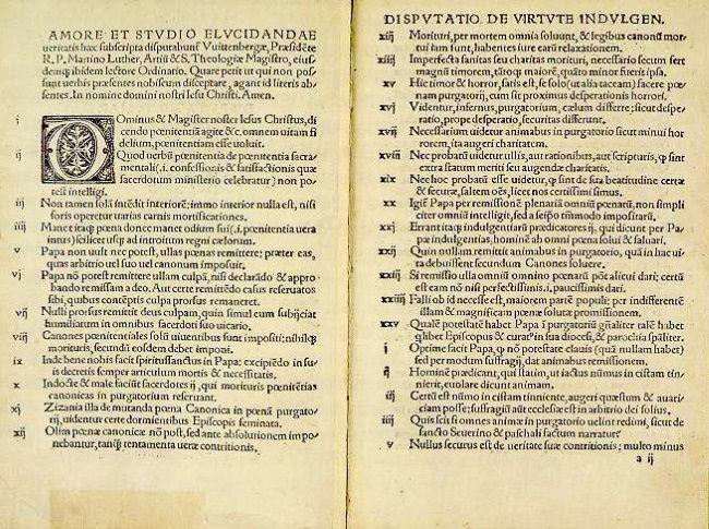 95 tesis de lutero 1522