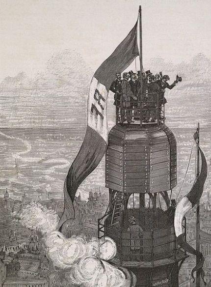 inauguracion torre eiffel 1889