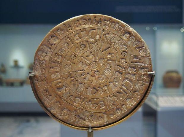 disco de phaistos civilizacion minoica