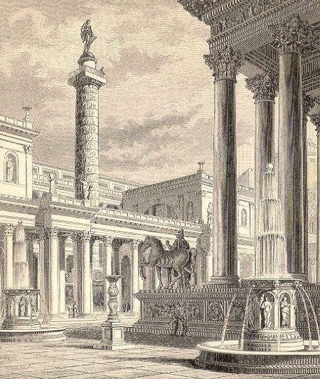 foro romano y columna trajana