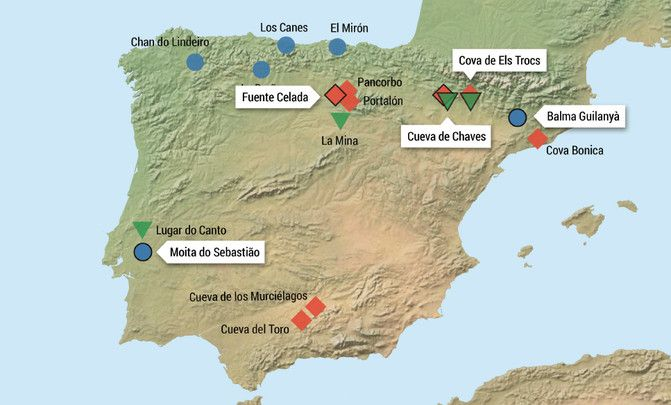 localizaciones yacimientos prehistoricos españa