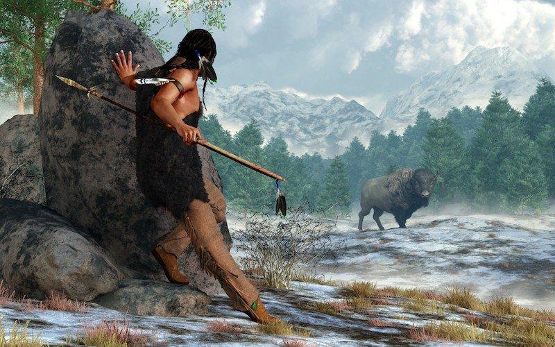bisontes en la prehistoria