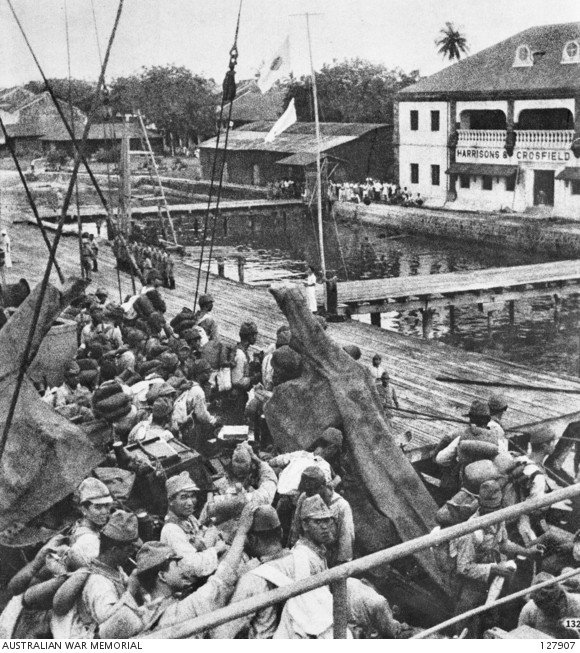 ejercito japon desembarca en Borneo