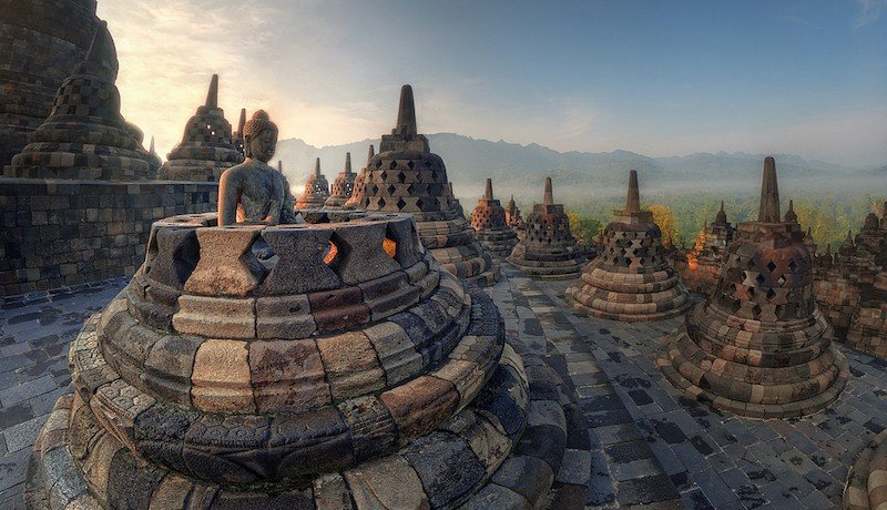 detalle templo borobudur