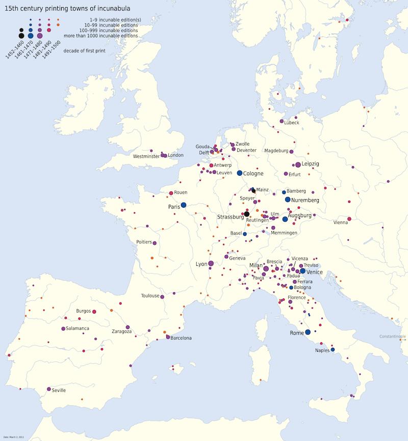 expansion de la imprenta europa