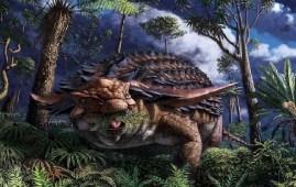 ultima comida dinosaurio Borealopelta