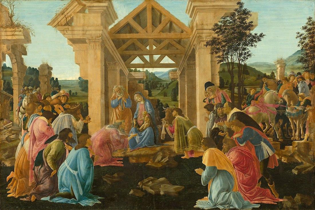 adoracion de los magos de botticelli