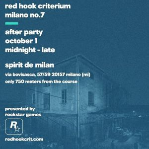 The Red Hook Criterium Milano after-party is only 750 meters from the circuit in a beautiful former crystal glassware factory After Party Midnight - late Spirit de Milan via Bovisasca, 57/59