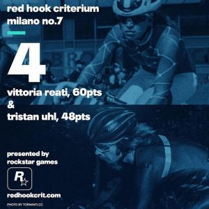 Vittoria Reati (SpeedGang) 60 points Brooklyn No.9 (Qualifying: 6th / Race: 3rd) London No.2 (Qualifying: 5th / Race: 9th) Barcelona No.4 (Qualifying: 10th / Race: 10th) ------------------------------------------------Tristan Uhl (Aventon Factory Team) 48 points Brooklyn No.9 (Qualifying: 24th / Race: 8th) London No.2 (Qualifying: dns / Race: dns) Barcelona No.4 (Qualifying: 32nd / Race: 2nd)