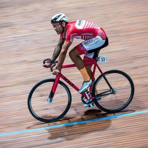 Mario Paz Duque on the boards last night at the Velodromo Vigorelli. Ph: @tornanti_cc