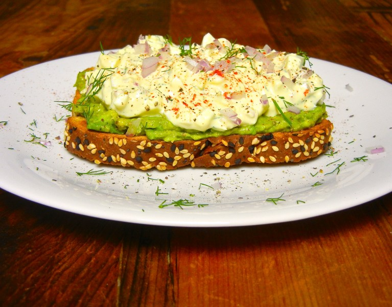 Egg Salad with Avocado Smash - Red Hot and Hungry