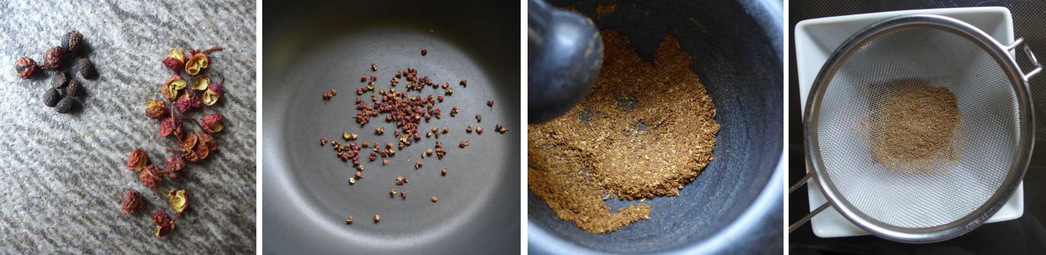 How to grind Sichuan peppercorn