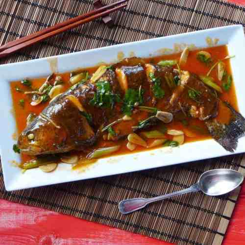 Chinese sweet and sour fish ready in 20 minutes! No deep-frying needed. Visually appealing and balanced in flavour. A must for Chinese New Year.
