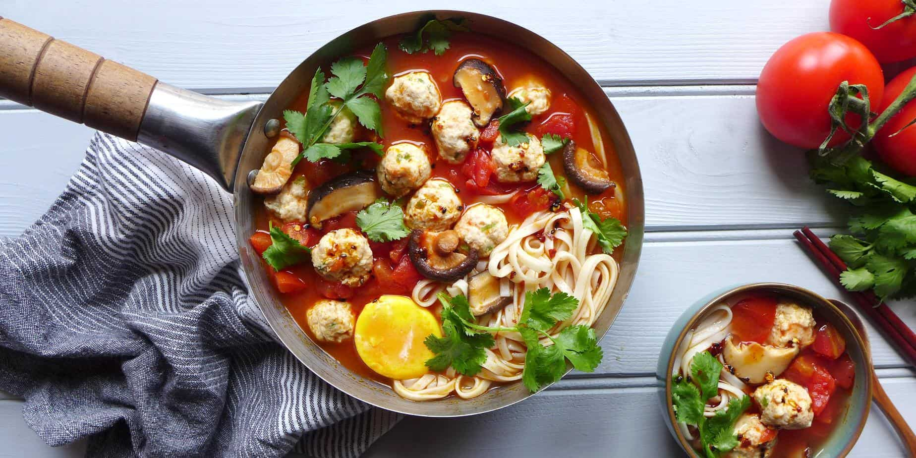 Chicken meatball noodle soup red house spice forumfinder Image collections