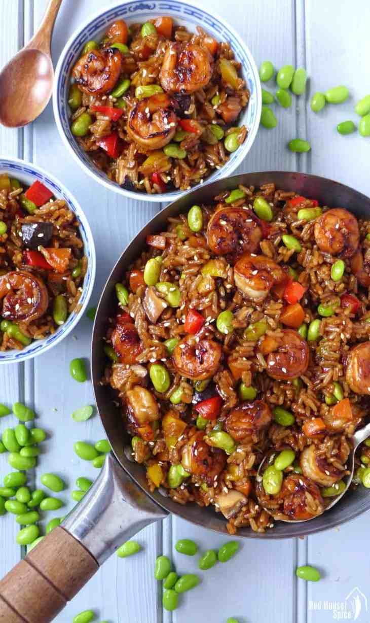 "Want to make ""fried rice"" but no cooked rice available? This Chinese soy sauce rice pilaf comes to the rescue. Easy to prepare and better than takeaway."
