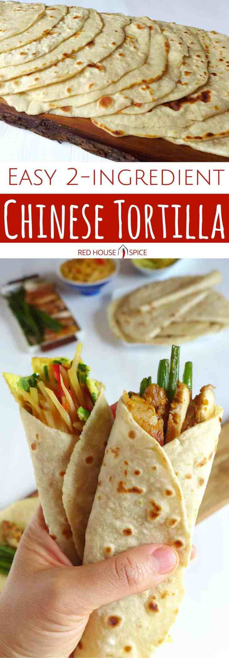 Tender, supple and very thin, Chinese tortillas (Spring pancakes) are made with only two ingredients. Perfect wrapper for any fillings of your choice.