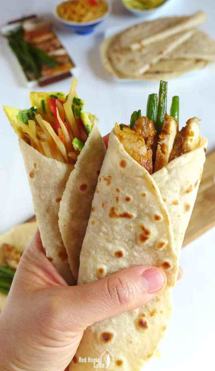 Tender, supple and very thin, Chinese tortilla (Spring pancake) is made with only two ingredients. Perfect wrapper for any fillings of your choice.
