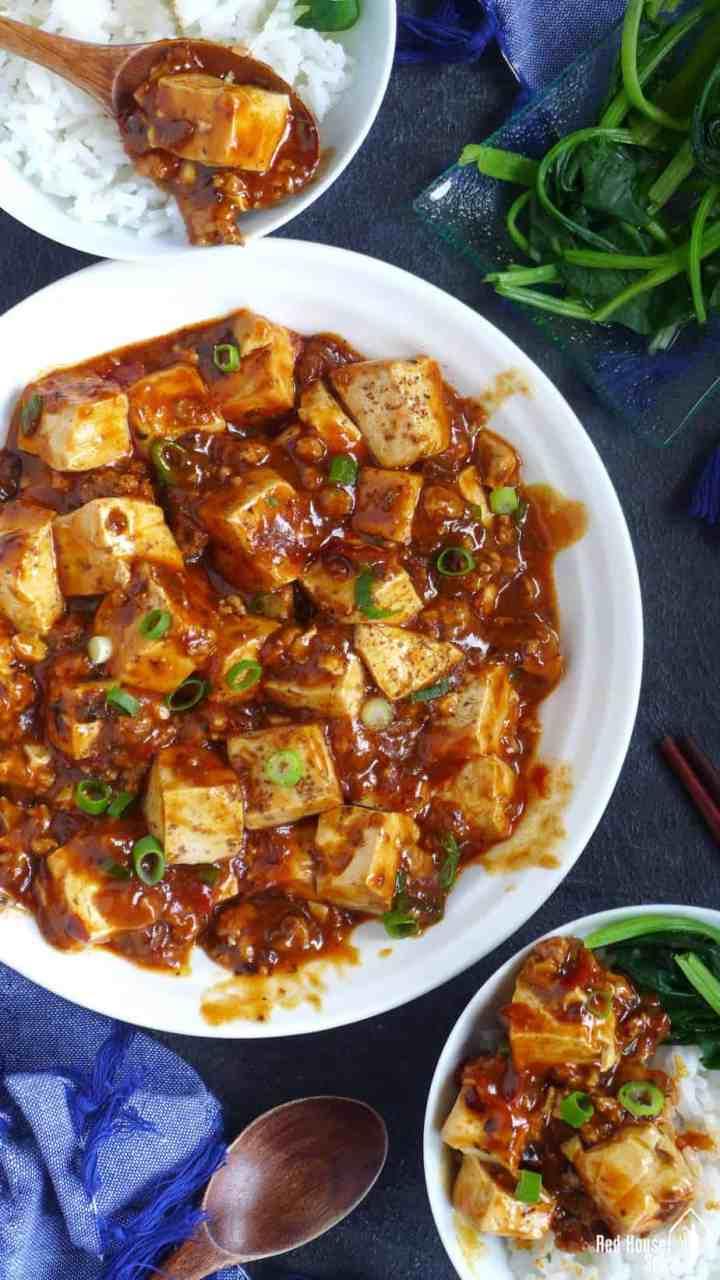 A plate of Mapo tofu
