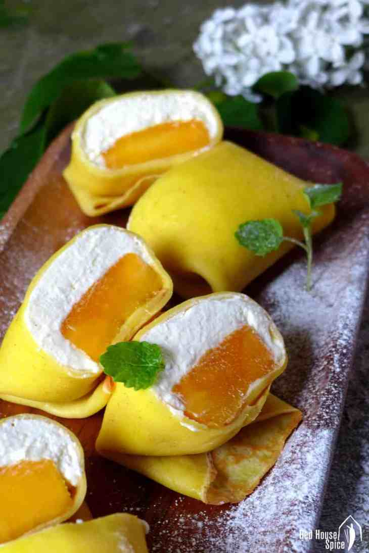 Uncategorized Pancake Pillow hong kong style mango pancake red house spice fresh chunk topped with fluffy whipped cream then wrapped a thin moist
