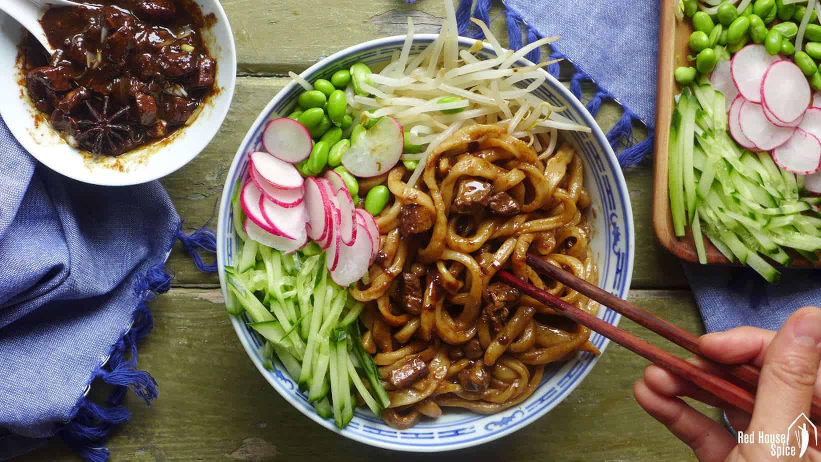 Zha Jiang Mian: Beijing's signature noodles (炸酱面)