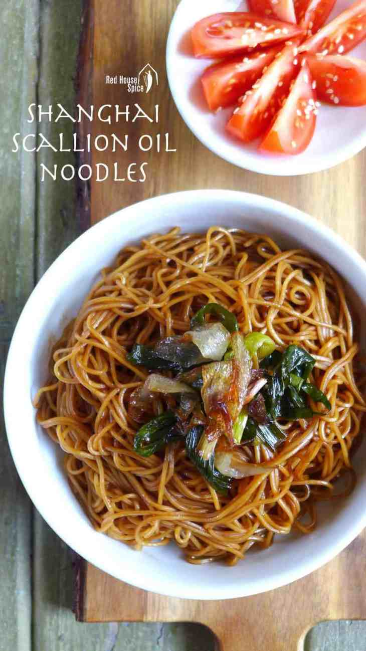 A humble dish from Shanghai, spring onion oil noodles is simple but delectable. It can be served as breakfast, lunch, dinner, or even as a side dish for parties.